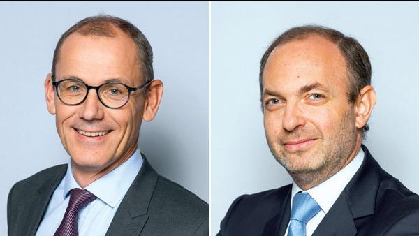 Du gauche à droite : Laurent Sellier et Anthony Gribe