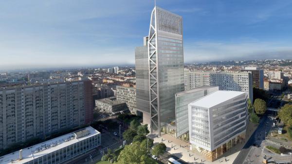 En conservant certains principes de l'opération Silex 1,  Silex 2 propose deux bâtiments, dont un de 23 étages.