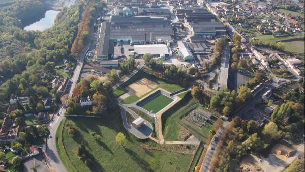 Le site restructuré d'Erasteel - Valdi à Commentry.