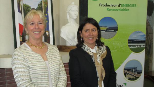 Elisabeth Ayrault, pdg de CNR, et Patricia Brunel-Maillet, Pdg d'Energie Rhône Vallée.
