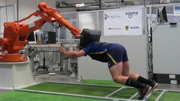 Joug de rugby robotisé Sigma, brefeco.com