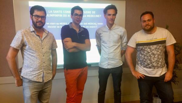 De gauche à droite : Yacine Remini (Medeo), Etienne Depaulis (Lifen), Grégoire Pigné (360 Medical) et Rémi-Jean Berger (Medeo).