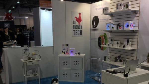Le stand de Linkoo Technologies lors du CES 2017 de Las Vegas.