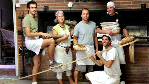 Cinq des six salariés de la MieCyclette.