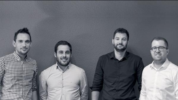 De gauche à droite : Thibaut Troufa, Benjamin Pierrisnard, Thomas Leim et Loïc Gauthier.