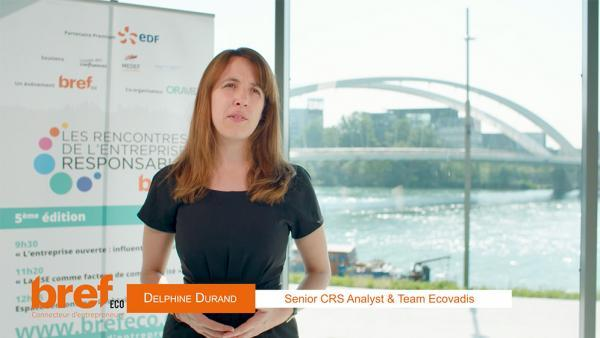 Delphine Durand, senior CRS analyst & Team d'Ecovadis.